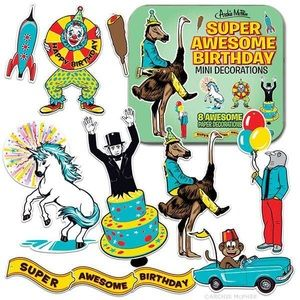 archie mcphee Party Supplies - Archie McPhee Super Awesome Birthday Decorations